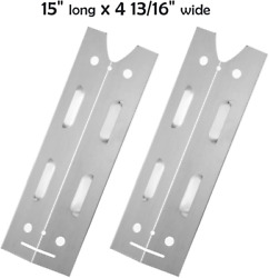 15 Inch Heat Plate For Brinkmann Gas Grill Model 810-4220-s, Stainless Steel