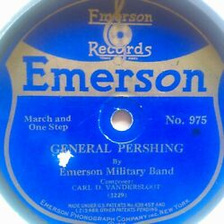 78 rpm Emerson 975 9quot; disc Emerson Military Band General Pershing V