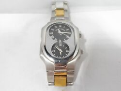 Phillip Stein Dual Time Watch Original Box And Papers Working