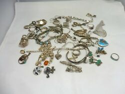 Mixed Lot Of Vintage Sterling Silver Jewelry