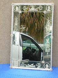 Early 20th C Venetian Mirror With Figures And Animals Wow - P