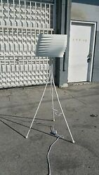 Contemporary Post Modernist Italian Style Tripod Floor Lamp With Metal Shade P