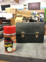 Antique Victory Metal Lunchbox With Aladdin Best But Thermos Bottle