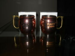 New In Box Absolute Vodka Copper Mugs Set Of Two 16 Oz Each