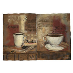 S. Vassileva Resin Wall Plaques Cafe Coffee Espresso French Kitchen Decor Dining