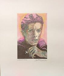 Rare 1/1 Guillaume Azoulay Anisocoria H/s And Colored Etching On Paper Coa