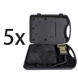 Refrigerant Electronic Charging Scale Meters 5 Pc Digital 220 Lbs Hvac With Case