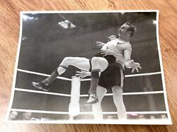 British Wrestling Match Vintage 1940andrsquos Or 1950andrsquos Press Photo Still Daily Mirror