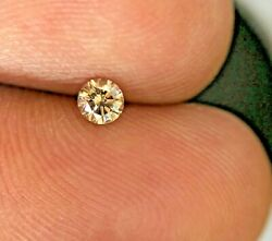 Natural Diamond Real Diamond 0.13tcw Intense Brown Round Brilliant Cut For Gift