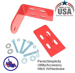 Mower Hitch Ferris And Simplicity Zero Turn Mower Trailer Hitch Red Lawn Made Usa