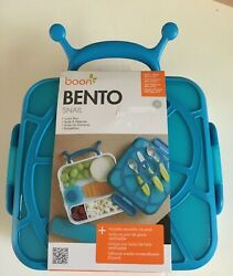 NEW Bento Boon Snail Blue Lunch Box Kids Container Ice Pack $18.00