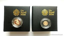 Great Britain Uk 2013 Quarter And Half Sovereign Collection 2 X Gold Coin Set