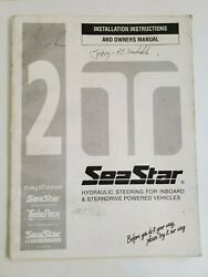 Seastar Hydraulic Steering Installation Manual For Inboard And Stern Drive Vessels