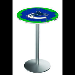 Holland Bar Stool Co. L214s3636vancan 36 Stainless Steel Vancouver Canucks Pub