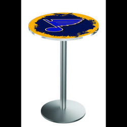 Holland Bar Stool Co. L214s3636stlblu 36 Stainless Steel St Louis Blues Pub