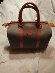 Ladies 1981 Christian Dior Toile Trekking Canvas And Leather Purse..brand...