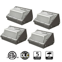 4pack 120w Led Wall Pack Light Dusk To Dawn Commercial Industrial Porch Lighting