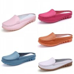 41/42/43 Women Casual Slip On Mules Closed Toe Slippers Loafers Nurse Moccasin B