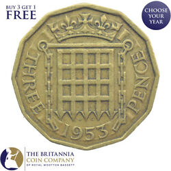 1953 To 1967 King Queen Elizabeth Ii Brass Threepence 3d - Choose Your Year
