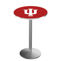 Holland Bar Stool Co. L214s3628indnau 36 Stainless Steel Indiana Pub Table