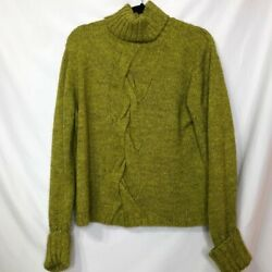 David Brooks Chunky Cable Knit Green Sweater XL $30.00