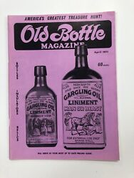 Vintage Old Bottle Magazine - April 1971 - Free Shipping - Antique Collector