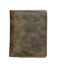Green Pure Leather small Bi fold Wallet with Zipper Coin Purse Bag Card Holder $24.50