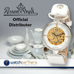 German Rosenthal Ladies Automatic Watch Hand-made Porcelain White Dial 3061-1