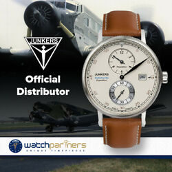 Junkers Expedition South America Swiss Regulateur Auto Watch Beige Dial 6512-1