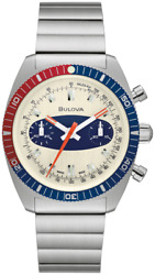 New Bulova Chronograph A Limited Edition St Steel Ivory Dial Menand039s Watch 98a251