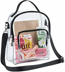 Clear Crossbody Purse Bag Shoulder Tote Bag with Removable Strap Stadium Approve $17.99