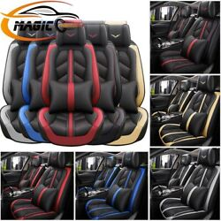 14andtimes Thicken Leather Car Truck Seat Cover Protector Universal Waterproof 5-seats