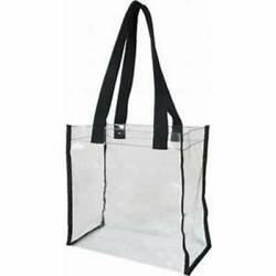 Clear Heavy PVC Open Tote Security NFL Stadium Approved Transparent Shoulder Bag $7.20