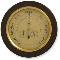 Brass And Cherry Wood Weather Station