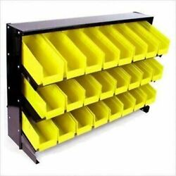 24 Plastic Bin Small Parts Storage Container Trays Rack Organizer Table Top