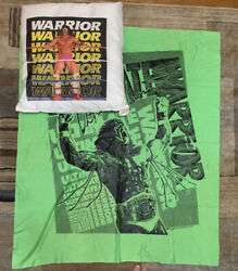 """Ultimate Warrior 1990 Titan Sports Pillow And 38.5"""" X 45"""" Green Wall Banner"""