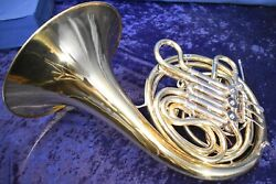 Vintage Conn 28d 8d With Yellow Brass Bell And Slides Double French Horn