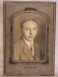 Vintage Photograph Anderson, Indiana Studio Identified Young Man Jessie Sill