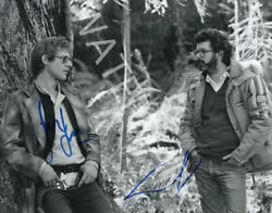 George Lucas And Harrison Ford Signed 10x8 Photo Star Wars Looks Awesome Framed