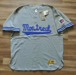 Jackie Robinson 9 Montreal Royals Jersey Ebbets Field Flannels Nwt Dodgers 2xl