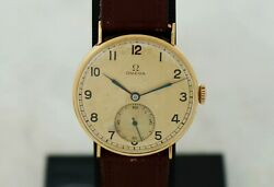 1939s Vintage Omega Mechanical Cal. 30t2 18k Solid Yellow Gold Case 35mm