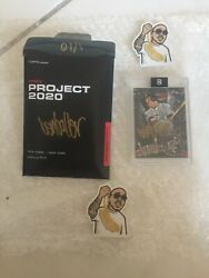 2020 Topps Project 2020 Mike Trout 51 Ben Baller Autograph In Gold 01/10