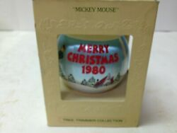 Hallmark Mickey Mouse 1980 Satin Ornament Tree Trimmer Collection