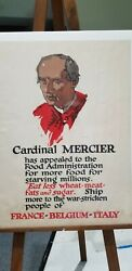 Wwi And Wwii Posters Originals Wwi Cardinal Mercier