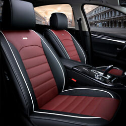 4 Colors Universal Full Car Seat Mat Cover Pu Leather Breathable Cushion Pad Set