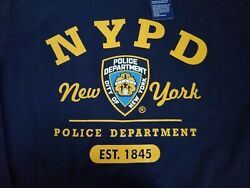 New York Police Department T-Shirt Official Apparel -Youth XL- New With Tags $16.95