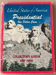 Complete Set Of Presidential One Dollar Coins /album 2007 To 2016 38