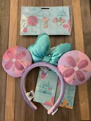 Minnie Mouse The Main Attraction Ear Headband / Pins It's A Small World Limited