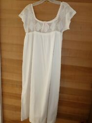 Antique Cotton Muslin Crocheted Nightgown circa 1920s Great Condition $85.00