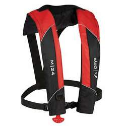 Onyx M-24 Manual Inflatable Life Jacket Red 131000-100-004-15